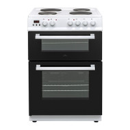 New World E600MD Electric Cooker with Double Oven  - White - GRADED