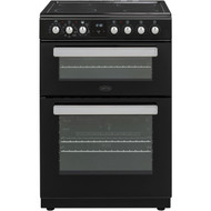 Belling FSE608MFc Electric Cooker with Ceramic Hob - Black - A/A Rated - GRADED