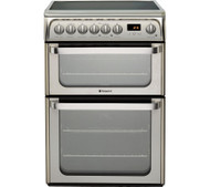 Hotpoint HUE61XS Electric Cooker with Ceramic Hob - Stainless Steel - A/A Rated - GRADED