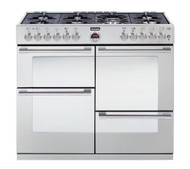 Stoves Sterling R1000DFT Dual Fuel Range Cooker - Stainless Steel - GRADED.