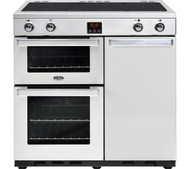Belling Gourmet 90Ei Professional Electric Induction Range Cooker - Stainless Steel - GRADED