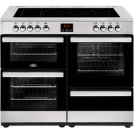 Belling Cookcentre100E 100cm Electric Range Cooker with Ceramic Hob - Stainless Steel - A/A Rated - GRADED