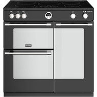 Stoves Sterling S900EI 90cm Electric Range Cooker with Induction Hob - Black - A/A/A Rated - GRADED