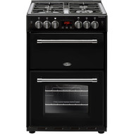 Belling Farmhouse60G Gas Cooker with Full Width Electric Grill - Black - A/B Rated - GRADED.