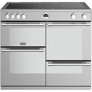 Stoves Sterling S1000EI 100cm Electric Range Cooker with Induction Hob - Stainless Steel - A/A/A Rated - GRADED.