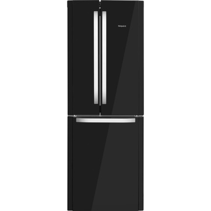Hotpoint Day 1 FFU3D.1K 60/40 Frost Free Fridge Freezer - Black - A+ Rated - GRADED