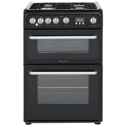 Hotpoint Ultima HARG60K Gas Cooker with Variable Gas Grill - Black - BRAND NEW