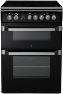 Indesit Advance ID60C2KS Electric Cooker with Ceramic Hob - Black - B/B Rated - BRAND NEW