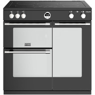 Stoves Sterling Deluxe S900EI 90cm Electric Range Cooker with Induction Hob - Black - A/A/A Rated - GRADED.