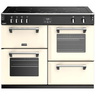 Stoves Richmond Deluxe S1100EI 110cm Electric Range Cooker with Induction Hob - Cream - A/A/A Rated - GRADED.