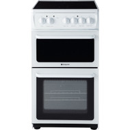 Hotpoint HAE51PS Electric Cooker with Ceramic Hob - White - B Rated