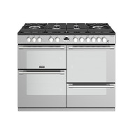 Stoves Sterling Deluxe DX S1100DF GTG Stainless Steel 110cm Dual Fuel Gas-Thru-Glass Range Cooker - GRADED
