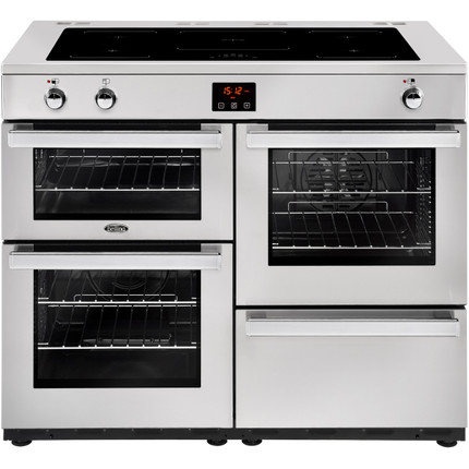 Belling Cookcentre110Ei Prof 110cm Electric Range Cooker with Induction Hob - Stainless Steel - A/A Rated - GRADED