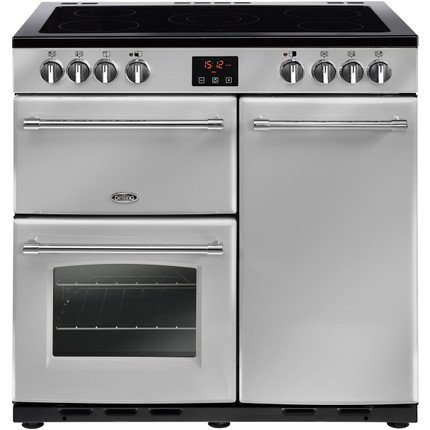 Belling Farmhouse90E 90cm Electric Range Cooker with Ceramic Hob - Silver - A/A Rated - GRADED