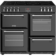 Stoves Belmont 100E 100cm Electric Range Cooker with Ceramic Hob - Black - A/A/A Rated - GRADED