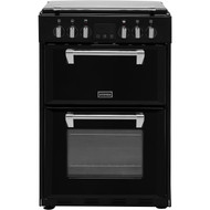 Stoves Richmond600E 60cm Electric Cooker with Ceramic Hob - Black - A/A Rated - GRADED