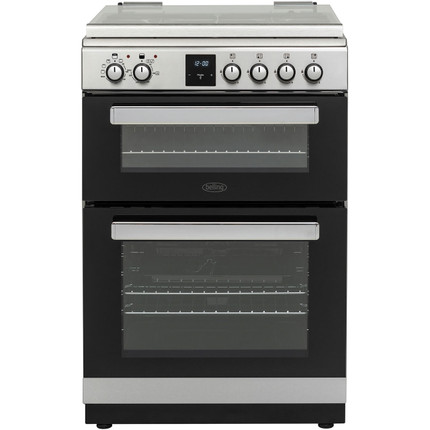 BELLING FSDF608Dc 60 cm Dual Fuel Cooker - Stainless Steel & Black - GRADED