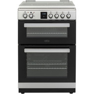 BELLING FSDF608Dc 60 cm Dual Fuel Cooker - Stainless Steel & Black - GRADED
