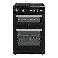 Belling FSE608D Electric Cooker with Ceramic Hob - Black - A/A Rated - GRADED