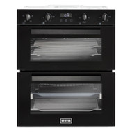 Stoves ST BI702MFCT Built Under Double Oven - Black - A/A Rated - GRADED