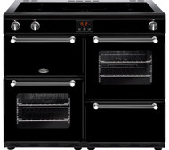 Belling Kensington 100Ei Electric Induction Range Cooker - Black & Chrome - GRADED