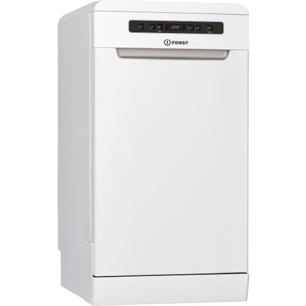 Indesit DSFO3T224ZUK Slimline Dishwasher - White - A++ Rated - GRADED