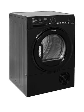 Hotpoint TCFS835BGK Condenser Tumble Dryer - Black - GRADED