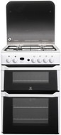 Indesit ID60G2W 60cm Double Oven Gas Cooker - White - GRADED