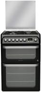 Hotpoint HUD61KS Dual Fuel Cooker - Black - GRADED