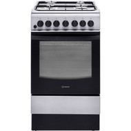 Indesit Cloe IS5G4PHX 50cm Dual Fuel Cooker - Silver - A Rated - GRADED
