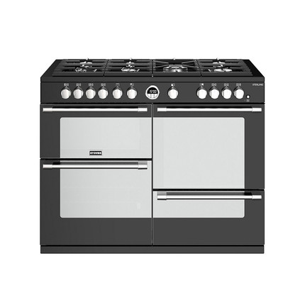 Stoves Sterling S1100G 110cm Gas Range Cooker with Electric Grill - Black - A/A/A Rated - GRADED