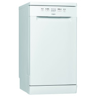 Whirlpool WSFE2B19UK Slimline Dishwasher - White - A+ Rated - GRADED