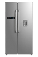 Montpellier M530PDIX Side-By-Side Fridge Freezer - Plumbed Ice & Water Dispenser - Stainless Steel - BRAND NEW