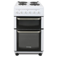 Montpellier Eco TCE51W 50cm Twin Cavity Electric Cooker - White - A Rated - BRAND NEW