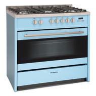 Montpellier MR95DFPB 90cm Twin Cavity Dual Fuel Range Cooker - Pastel Blue - BRAND NEW