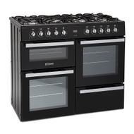 Montpellier MDF100K 100cm Dual Fuel Range Cooker - Black - BRAND NEW