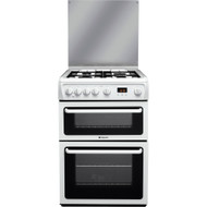 Hotpoint HAGL60P 60cm Double Oven Gas Cooker With Lid - White - GRADED