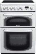 Hotpoint 60HEPS 60cm Ceramic Electric Cooker - White - GRADED