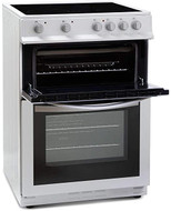 Montpellier MDC600FW 60cm Double Oven - ceramic hob - White - BRAND NEW