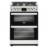 Belling Cookcentre 60G Gas Cooker with Full Width Electric Grill - Stainless Steel - A+/A Rated - GRADED