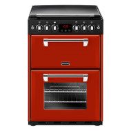 Stoves Richmond 600G 60cm Gas Cooker with Full Width Electric Grill - Jalepeno Red - A+/A Rated - GRADED