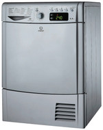 Indesit IDCE8450BSH 8Kg Condenser Tumbe Dryer - Silver - B Rated - GRADED