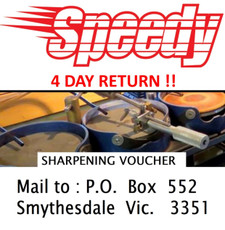 Mail to: Edgeworks, P.O. Box 552 Smythesdale Vic. 3351