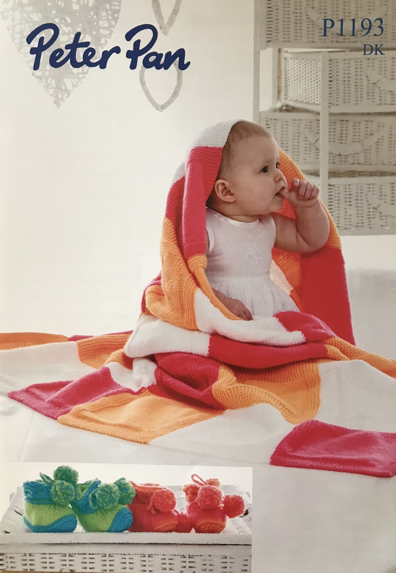 P1193 very colourful baby blanket