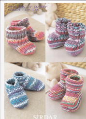 Knitting leaflets DK snuggly babies shoes & boots 1483