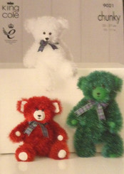 King Cole knitting pattern tinsel teddies 9021