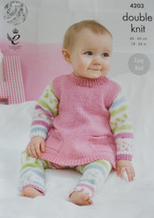 King Cole  baby DK knitting pattern 4203