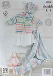 King Cole Baby DK knitting pattern 4202