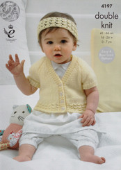 King Cole Baby DK knitting pattern 4197
