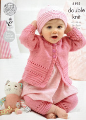 King Cole Baby DK knitting pattern 4195